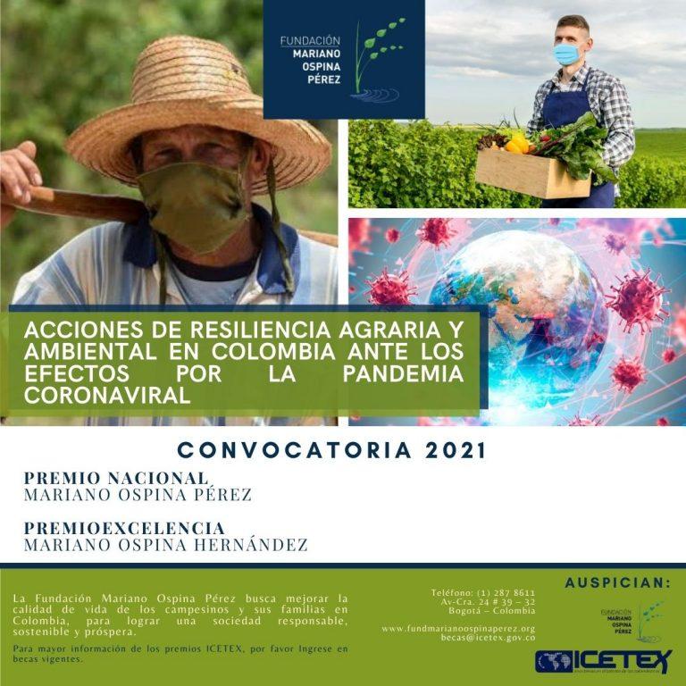 Premios Fundación Mariano Ospina Pérez - Vigencia 2021