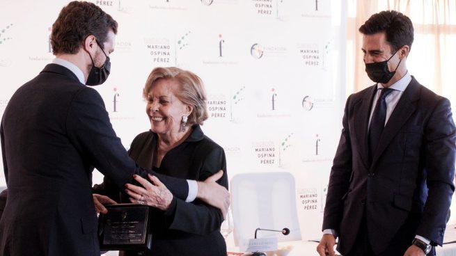 PALABRAS DE DOÑA HELENA BARAYA DE OSPINA EN EL HOMENAJE A DON PABLO CASADO, MADRID, ESPAÑA