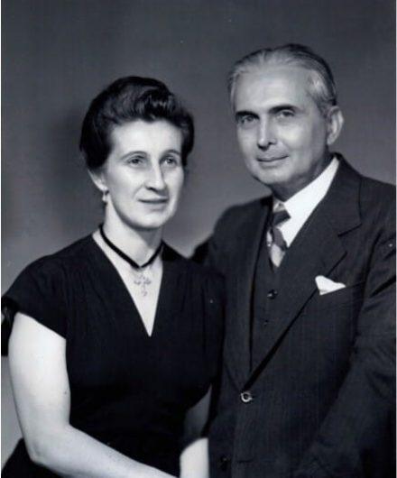 Doña Berha con Marino Ospina Pérez